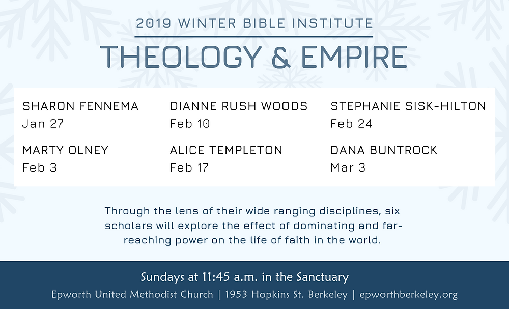 2019 Winter Bible Institute headliners