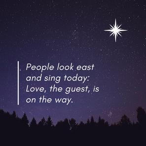 People, Look East Advent Worship Series Week 1