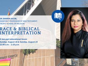 Race & Biblical Interpretation with Dr. Sharon Jacob
