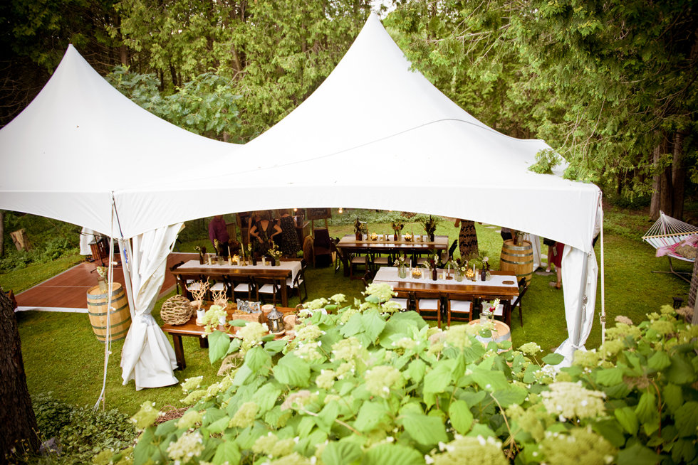 20x40 tent rental is perfect for any backyard wedding or event.