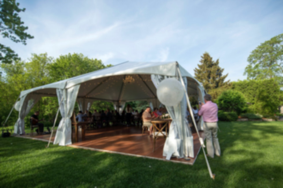 30x30 tent is perfect for small outdoor weddings and parties