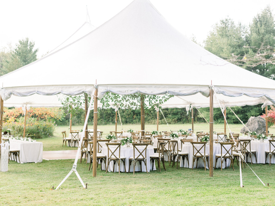 Aurora Tent with crossback chairs