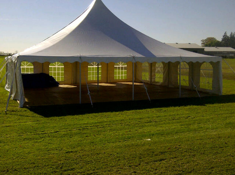 40x40 pole tent for rent, wedding tent rental, party tent for rent