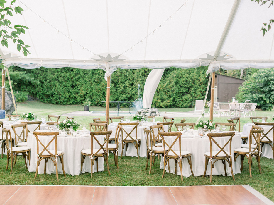 Beautiful outdoor tent wedding