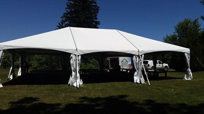 30x45 white tent rental