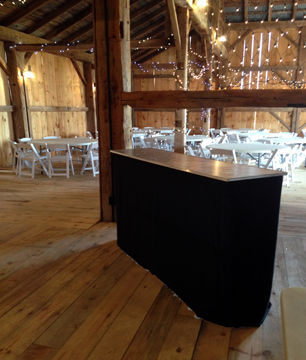 Guelph Tents wedding bar rental is available with a black or white skirt covering. Contact us today for a free quote!