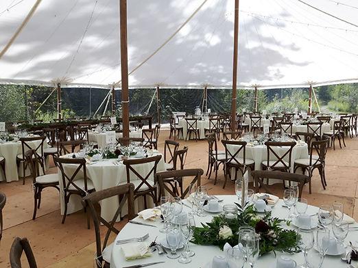 subfloor tent wedding