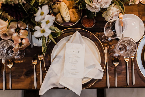 harvest table wedding place setting