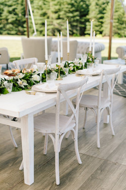 White Wash Crossback Chairs
