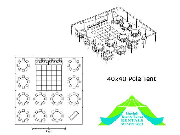 40x40 pole tent rental, wedding tent rentals in ontario.