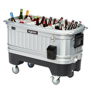portable cooler for rent, cooler rentals, portable cooler with led lights can hold up to 200 bottles