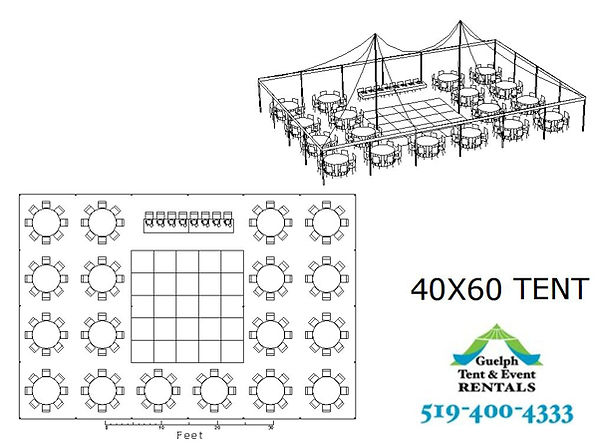 40x60 tent rental, party tent rentals. we deliver to toronto, hamilton, cambridge, kitchener ontario.