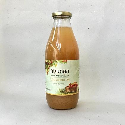 המתססה-מיץ תפוחים טבעי 100% פרי 1 ליטר