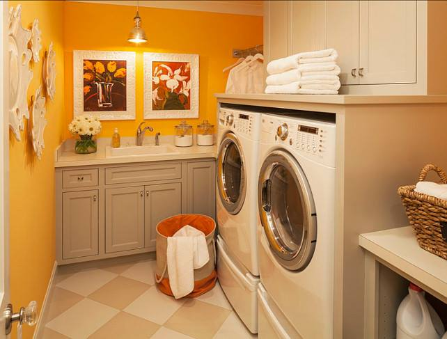 Built In Durham Laundry Room
