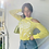Thumbnail: vintage yellow & white top