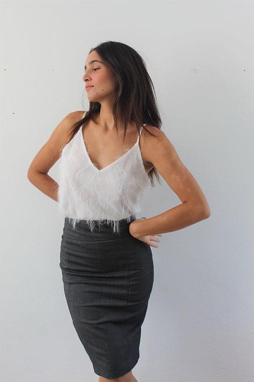 zara grey pencil skirt