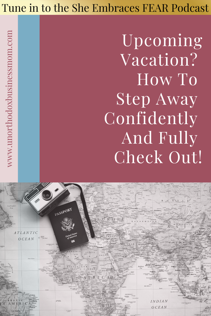 You can enjoy your vacation even when you have a job or business or both! It's okay to disconnect and I believe, absolutely necessary.