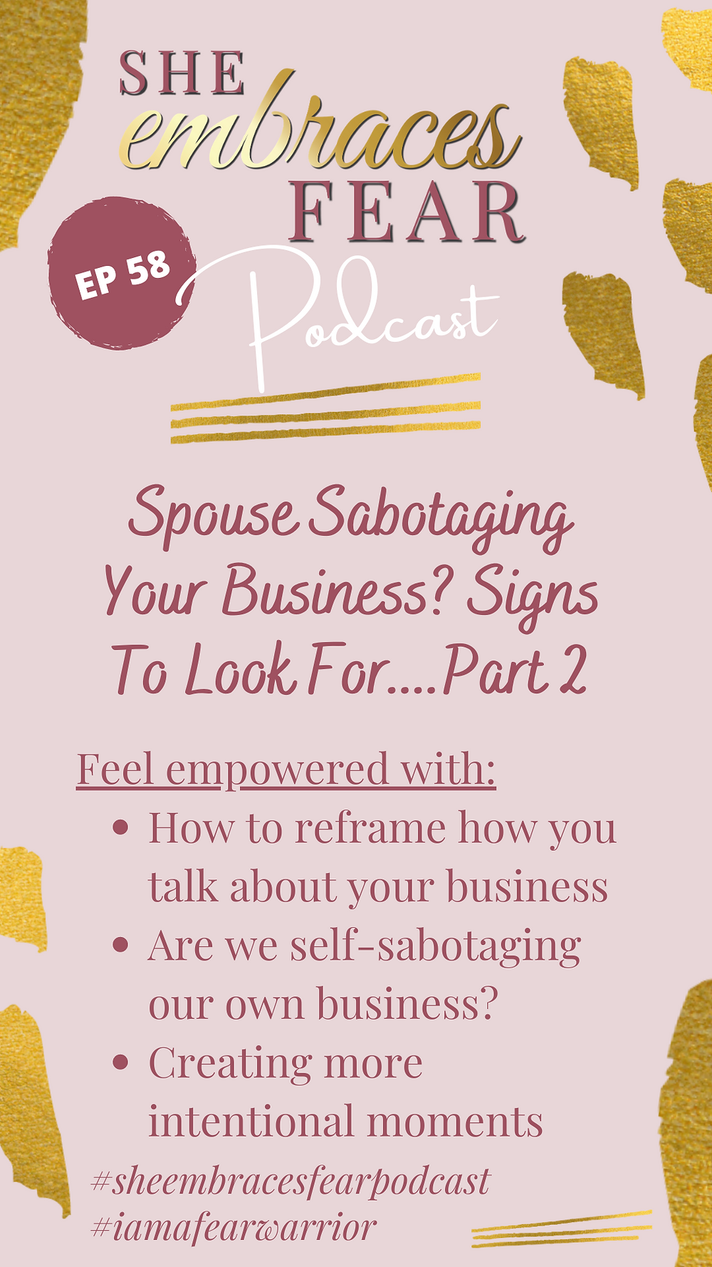 Not sure if your spouse is sabotaging your business unintentionally? Signs to look for that are silent disrupters. *Disclaimer - not a husband bashing episode*