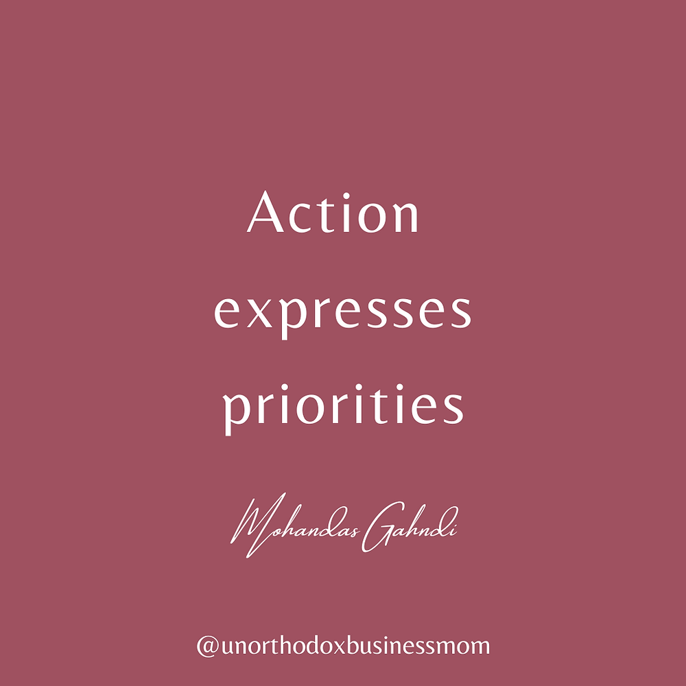 As we sit there thinking of the things we need to do, there is a clear difference in someone who will or will not make progress. The key word is ACTION.