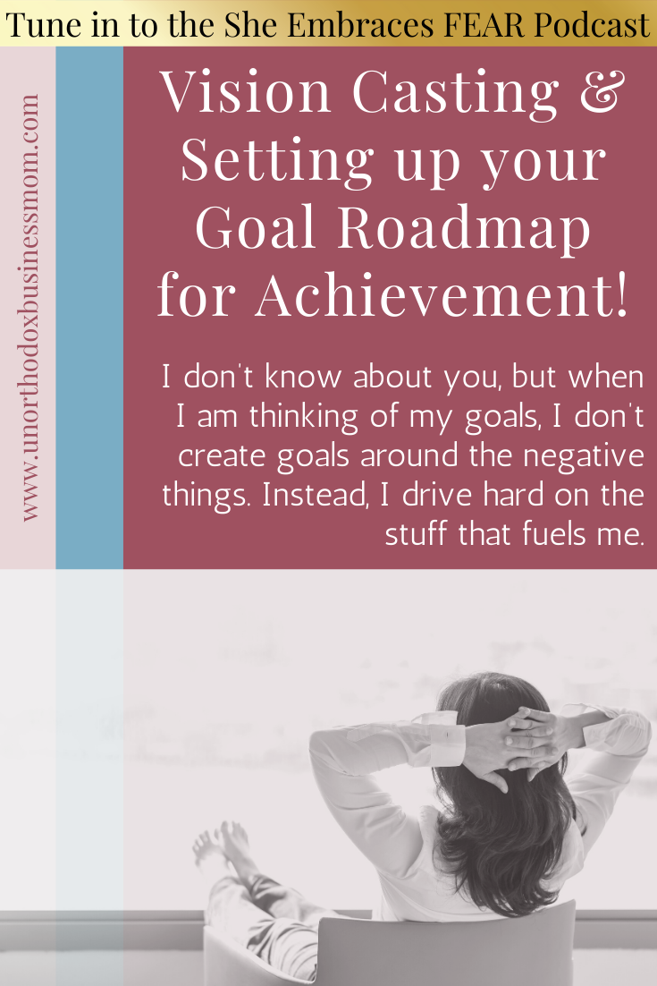 I don't know about you, but when I am thinking of my goals, I don't create goals around the negative things. Instead, I drive hard on the stuff that fuels me.