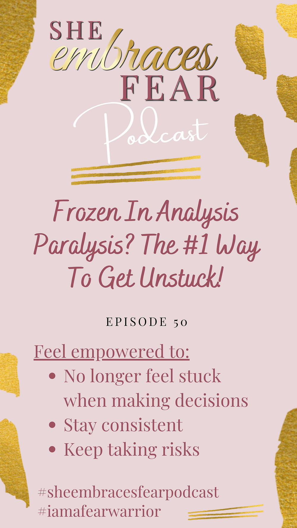 Focused on a goal but stuck in inaction? Frozen with analysis paralysis? Learn how to stay consistent and keep taking risks! The #1 way to get UNSTUCK!