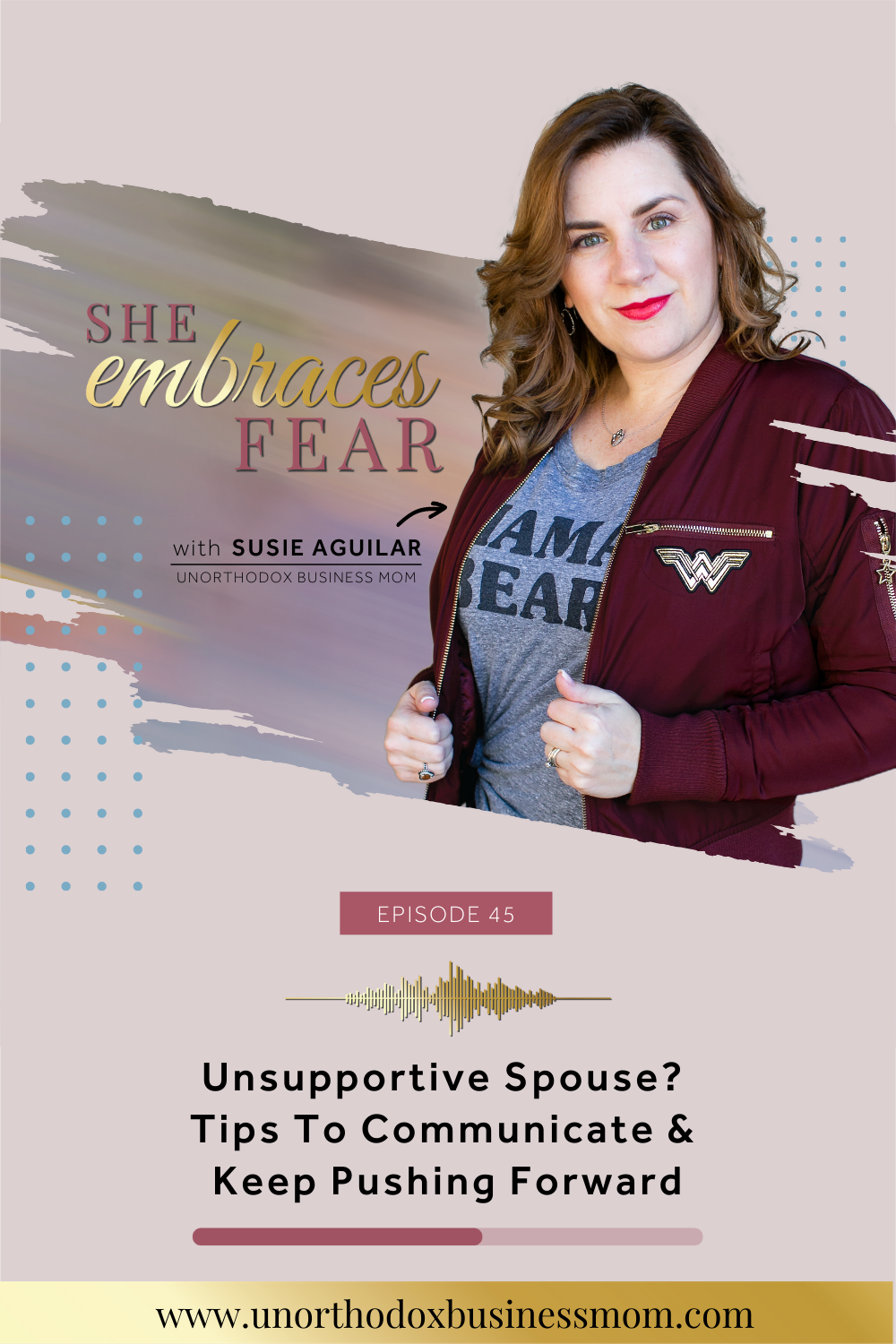 Feel like your spouse doesn't get you? They don't understand your ambitions or why you want to switch paths? Keep a healthy marriage and pursue your goals.