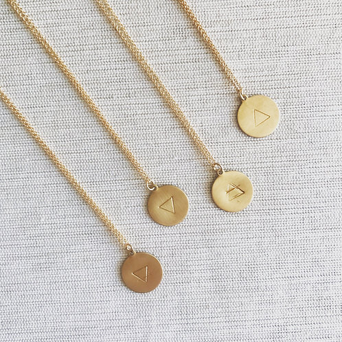 The four elements hand stamped pendants