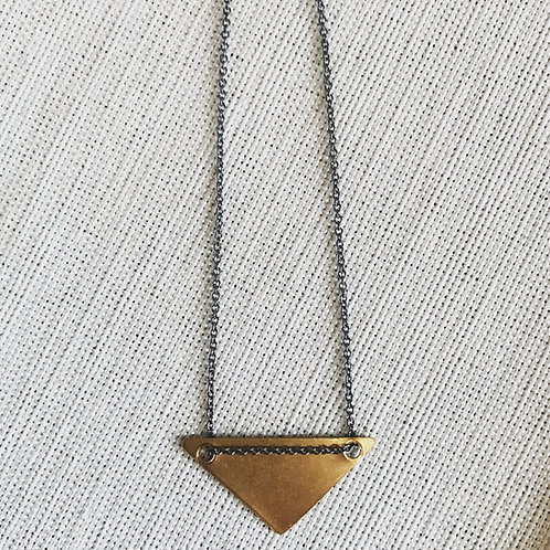 Two tone triangle necklace