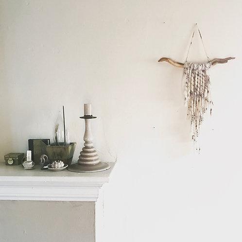 Stonewashed grey driftwood wall hanging-small