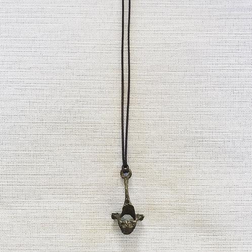 Recycled brass vertebrae necklace