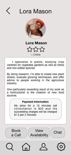 Expert's Information Screen