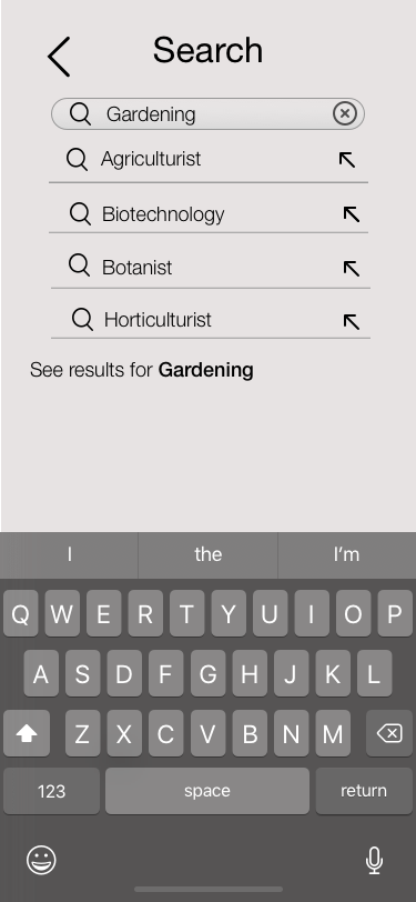 Search Results Screen