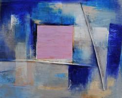 olio e carte su tela cm. 80x100
