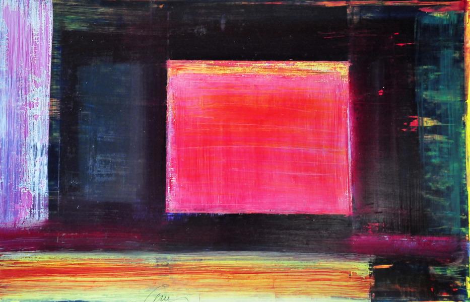 olio su carta cm. 50x70