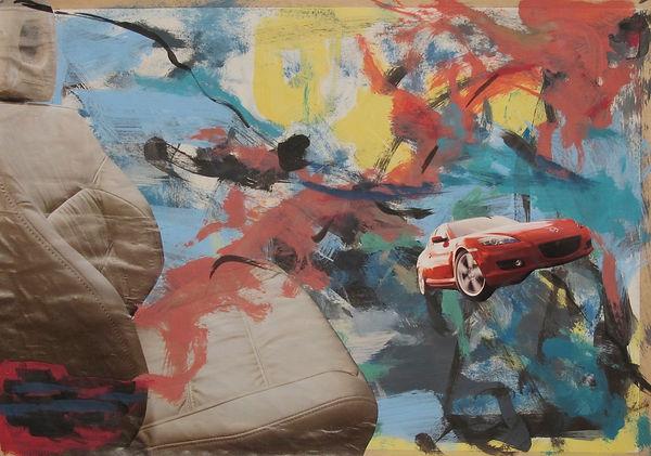 ohne Titel, Collage Mischtechnik, 2005, 29,2 x 41,5 cm