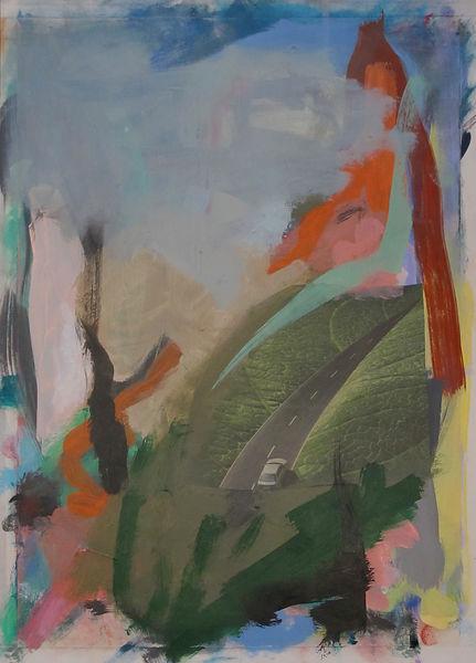 ohne Titel, Collage Mischtechnik, 2011, 35,5 x 25,5 cm