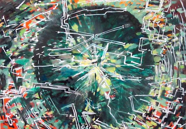 Grün ist die Hoffnung, Öl auf Leinwand, 2016, 85 x 120 cm