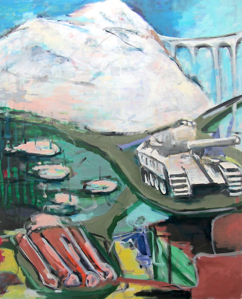Panzer, Öl auf Leinwand, 2014, 160 x 120 cm