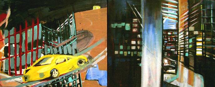 kill....Bill, Diptychon, Öl auf Leinwand, 2004, 49,5 x 119,5 cm