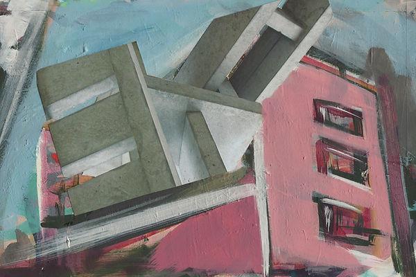 ohne Titel, Collage Mischtechnik, 2006, 19,6 x 29,8 cm