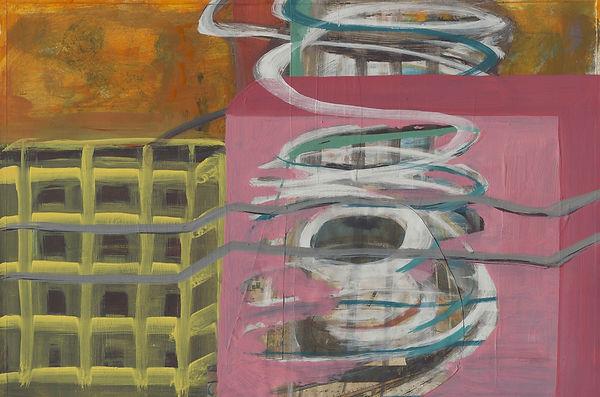 Métro, Collage Mischtechnik, 2003, 19,5 x 29,7 cm