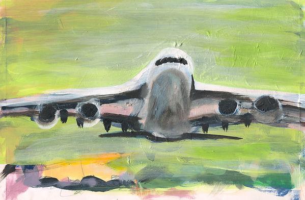 Flugzeug, Mischtechnik, 2007, 19,5 x 29,9 cm