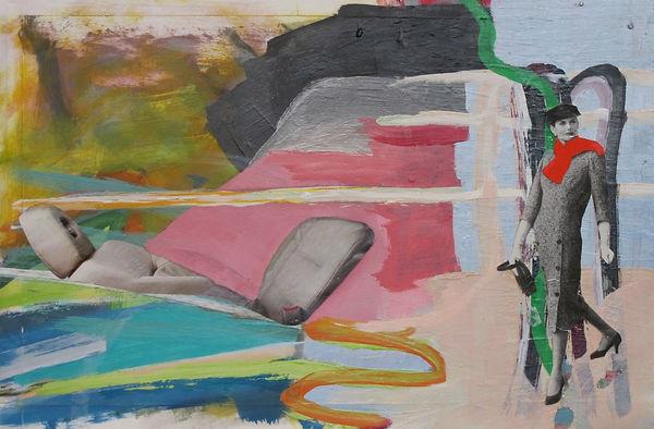 ohne Titel, Collage Mischtechnik, 2004, 21,2 x 32,1 cm