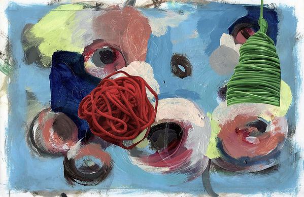 ohne Titel, Collage Mischtechnik, 2011, 17 x 27,8 cm
