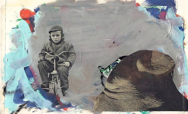 ohne Titel, Collage Mischtechnik, 2013, 19,4 x 29,8cm