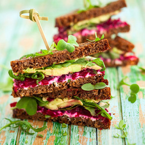 Beet, Cheese & Avo Stacks