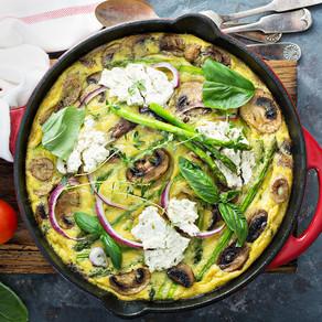 Asparagus Mushroom Omelette