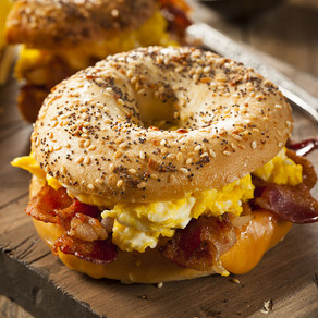 Bacon & Egg Bagels