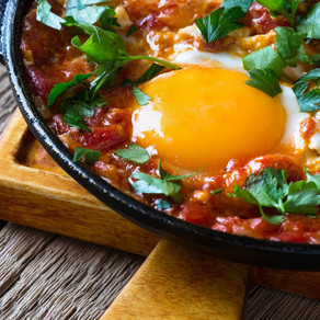Baked Sausages & Eggs