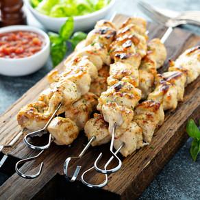 Lemon Soy Chicken Kebabs